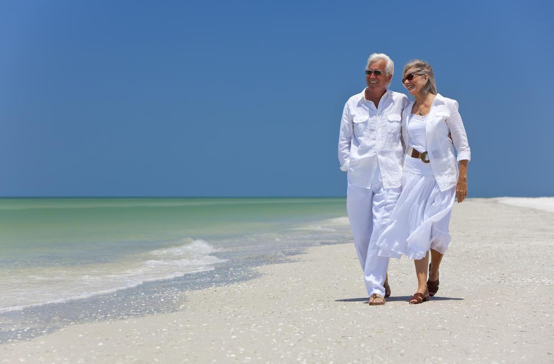Ehepaar am Meer
